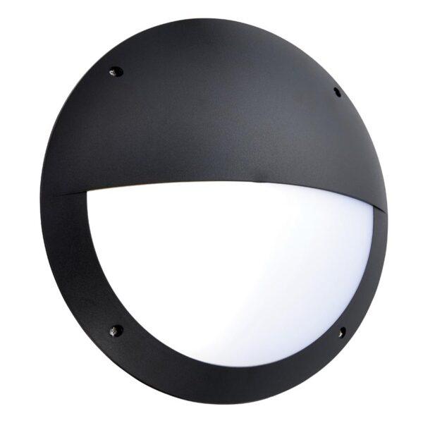 Seran Eyelid 12w LED Bulkhead Light Microwave Sensor IP65 Black