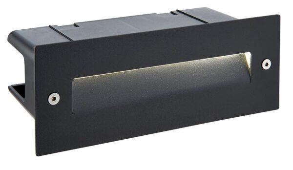Seina black stainless steel 2w LED letterbox brick light IP44