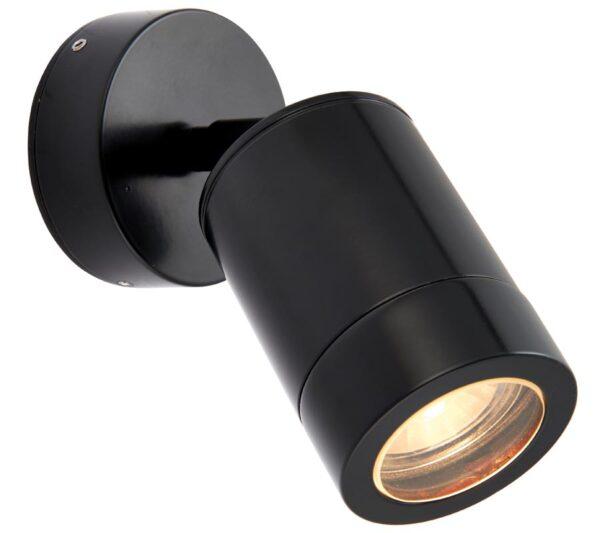 Odyssey Modern Adjustable Outdoor Wall Spotlight Black IP65