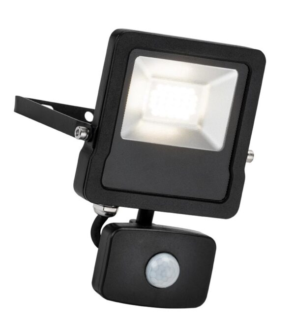Surge 20W LED Outdoor PIR Floodlight Manual Override Black IP65