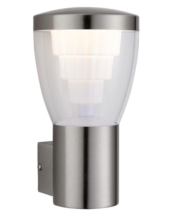 Carraway Bright LED Stainless Steel Outdoor Wall Light IP44