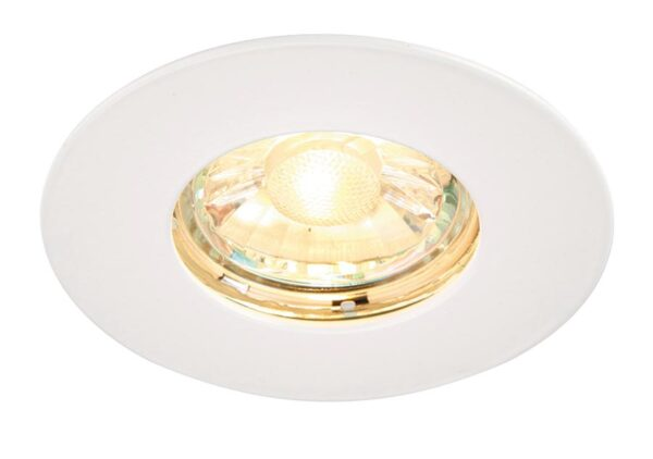 Speculo Bathroom Shower Down Light Fire Rated White IP65