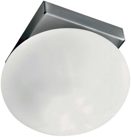 Modern Stainless Steel Round Opal Glass Recessed Downlight