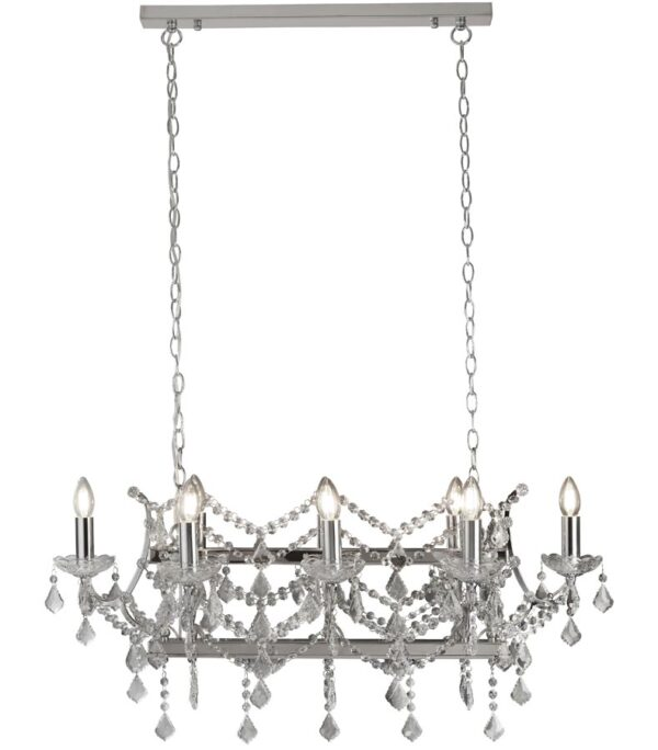 8068-8CC Florence 8 light ceiling pendant bar main image