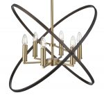 Hoopla 6 Light Pendant Chandelier Bronze / Brown Finish