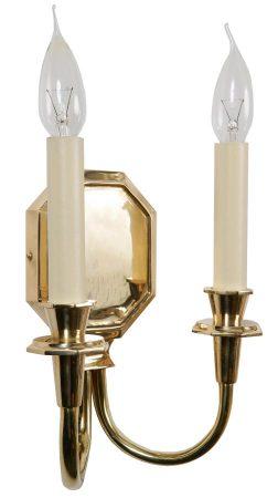 Diane Period Replica Twin Wall Light Solid Brass