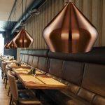 Modern Copper Anodised Aluminium Kitchen Ceiling Pendant