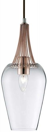 Whisk Contemporary Polished Copper Kitchen Ceiling Pendant