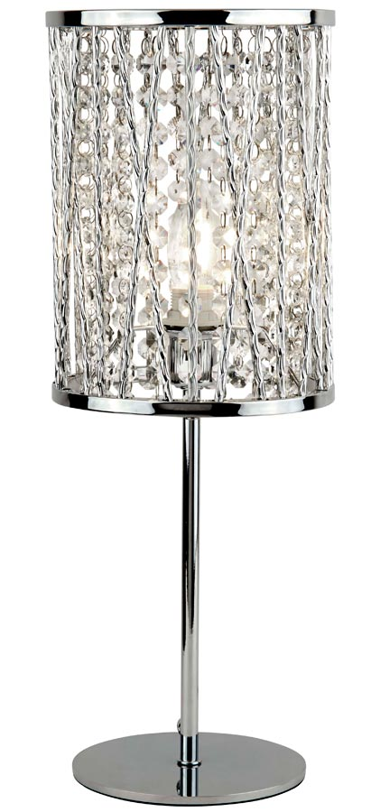 8931CC Elise 1 light table lamp polished chrome