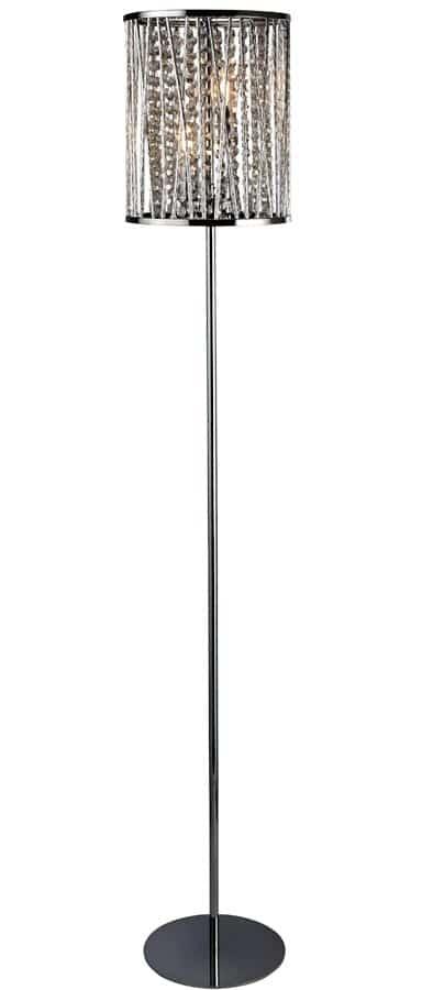 8932CC Elise 2 light floor lamp polished chrome