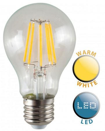 ES/E27 Filament 8w LED GLS Light Bulb Warm White 880 Lumen