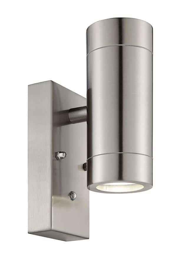 90130 Palin stainless steel outdoor wall light with photocell,