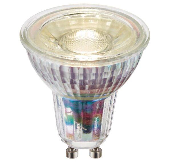 Dimmable SMD LED Glass GU10 Bulb Cool White 470 Lumen