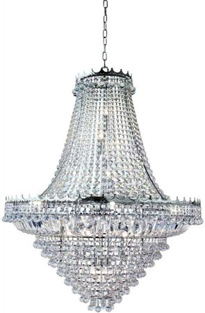 Versailles Extra Large Polished Chrome 19 Light Crystal Chandelier