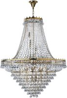 Versailles Extra Large Gold Finish 19 Light Crystal Chandelier