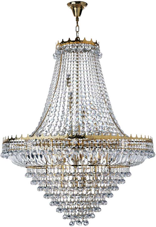 Versailles Extra Large Gold Finish 19 Light Crystal