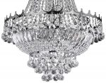 Versailles Medium Polished Chrome 9 Light Crystal Chandelier
