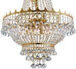 Versailles Medium Gold Finish 9 Light Crystal Chandelier