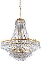 Versailles Large Gold Finish 13 Light Crystal Chandelier