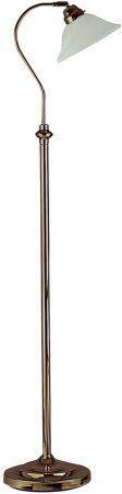 Traditional Antique Brass Adjustable Floor Lamp