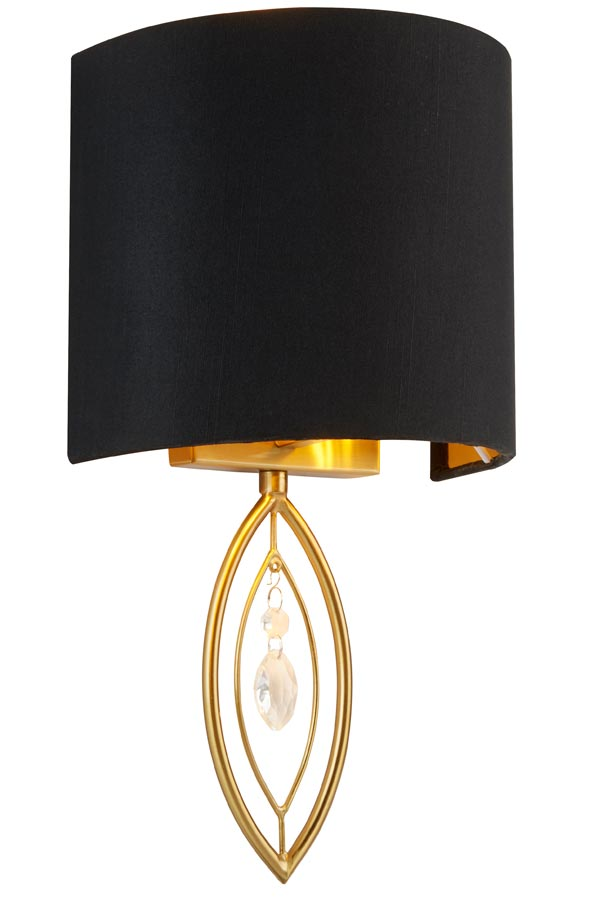 9137GO Crown 1 light wall light in gold