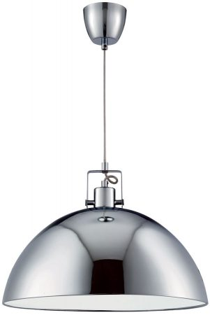 Domas Large Chrome White Lined Kitchen Pendant