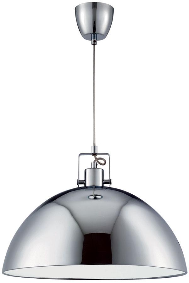 Domas Large Chrome White Lined Kitchen Pendant