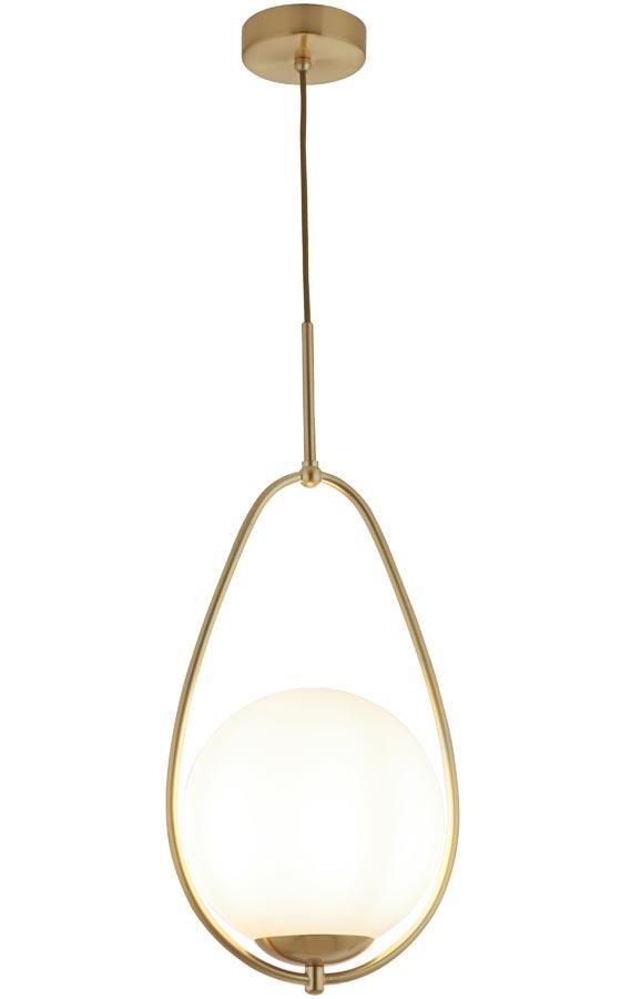 9171-1GO Avalon opal glass ball pendant satin gold