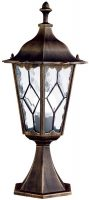Imperial Traditional Black And Gold Outdoor Post Top Lantern