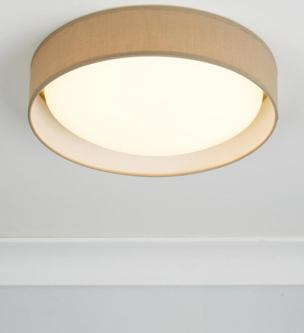 Gianna 18w LED 37cm flush ceiling light brown shade