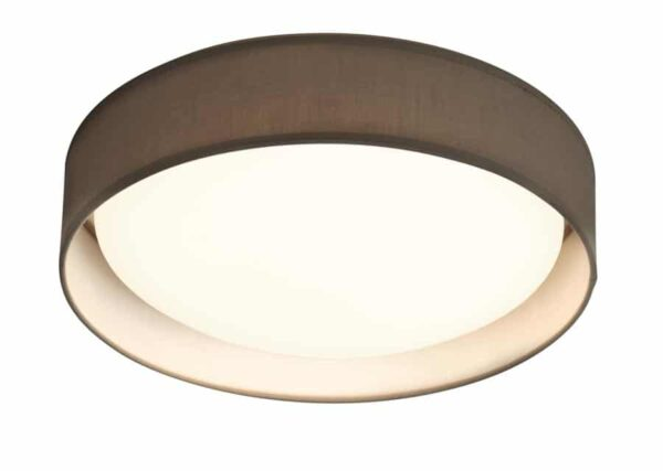 Gianna 18W LED 37cm Flush Mount Ceiling Light Grey Shade