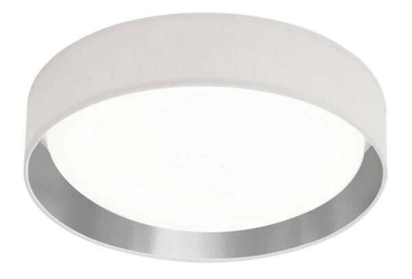 Gianna 18w LED 37cm flush ceiling light silver / black shade