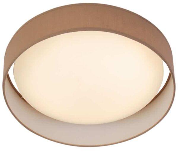 Gianna 25w LED 50cm flush ceiling light brown shade