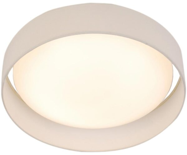 Gianna 25w LED 50cm flush ceiling light white shade