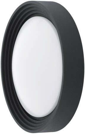 Ontaneda Round Black Outdoor LED Wall Or Porch Light IP44