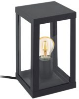 Alamonte 1 Black Square Lantern Outdoor Table Lamp IP44