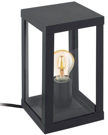 Alamonte 1 Black Square Lantern Outdoor Table Lamp IP44