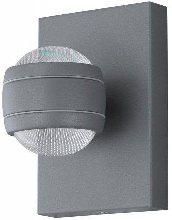 Sesimba Contemporary LED Outdoor Wall Light Silver IP44
