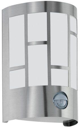 Cerno Modern Patterned Stainless Steel PIR Sensor Wall Light IP44
