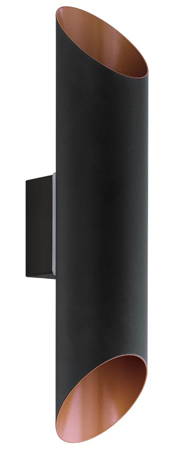 Eglo 94804 Agolada Black Up And Down LED Outdoor Wall Light IP44