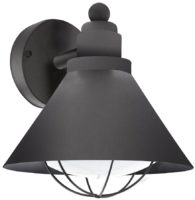 Barrosela Traditional Black Finish Outdoor Wall Lantern IP44