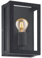 Alamonte 1 Black 1 Light Outdoor Box Lantern IP44
