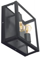 Alamonte 1 Black 2 Light Outdoor Box Lantern IP44