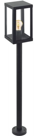 Alamonte 1 Black Square Lantern Outdoor Post Light IP44