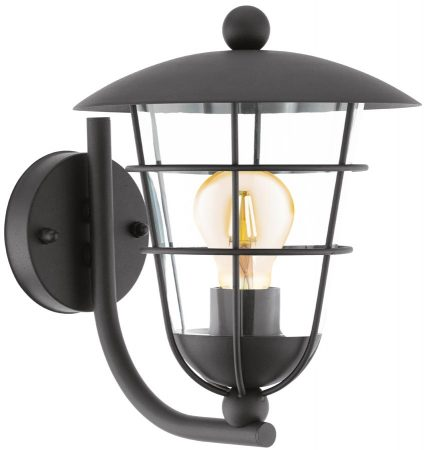 Pulfero Traditional Black Upward Outdoor Wall Lantern IP44