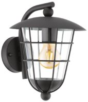 Pulfero Traditional Black Downward Outdoor Wall Lantern IP44