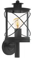 Hilburn Traditional Black Oval Outdoor Carriage Lantern IP44