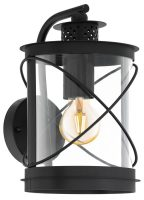 Hilburn Black Finish Oval Outdoor Carriage Lamp IP44