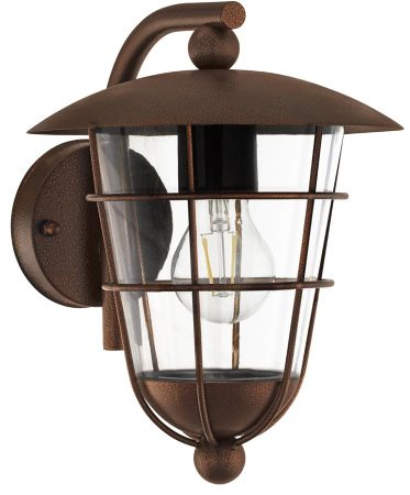 Pulfero 1 Traditional Brown Downward Outdoor Wall Lantern IP44