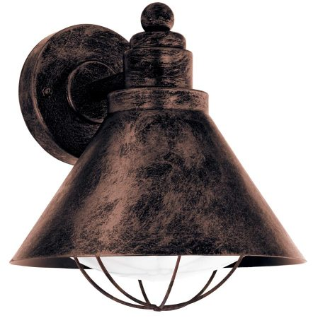 Barrosela Traditional Antique Copper Outdoor Wall Lantern IP44